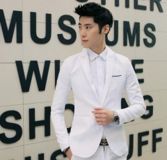 NEW Mens Fashion Brand Blazer British's Style casual Slim Fit suit jacket male Blazers coat Terno white m