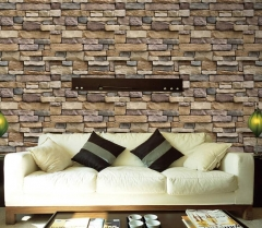 Rustic Vintage 3D Faux Brick Wallpaper Roll Vinyl PVC Retro Industrial Loft Wall Paper  Washable ly01 0.45m x 5m