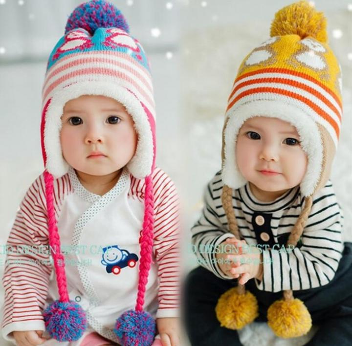 d7ecb15f19d Infantil Toddler Newborn Cute Baby Kids Boys Girls Unisex Knitted Crochet  Beanie Winter Warm Hat Cap