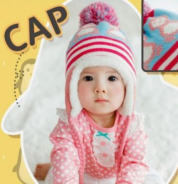 4e4246d1fe0297 Infantil Toddler Newborn Cute Baby Kids Boys Girls Unisex Knitted Crochet  Beanie Winter Warm Hat Cap