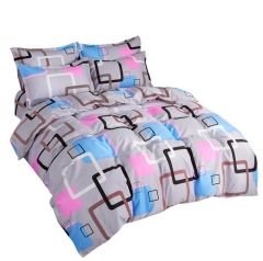 Fine Atistic Pattern Consise Cover Bed Sheet Pillow Case Bedding Set for Bedroom Dormitory Atistic 01 twin 3pcs