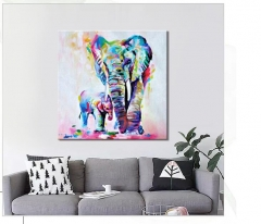 Canvas Painting Wall Art Pictures prints colorful frog on canvas no frame home decor Wall poster ly01 30*30 no frame