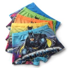 5 Piece Kids Boys Underwear Cartoon Children's Shorts Panties Boxers Stripes Underpants 4-14T