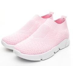 Womens Running Shoes Breathable Mesh Athletic Gym Walking Shoes pink 36