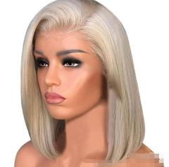 Beauty Lace Front Human Hair Wigs Bob Wig with Pre Plucked Hairline Brazilian Hair Lace Closure Wig Gold as picture