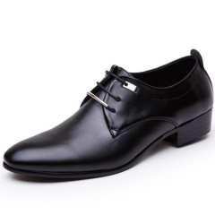 Men PU Leather Shoes Men's Flats Formal Shoes Classic Business Dress Shoes black 40 pu leather