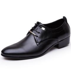 Men PU Leather Shoes Men's Flats Formal Shoes Classic Business Dress Shoes black 40 pu leather
