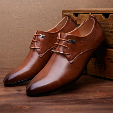 Men PU Leather Shoes Men\u0027s Flats Formal Shoes Classic