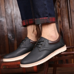 Men Boots Solid Casual Fashion Men Boots Ankle Boots Waterproof Cool Luxury Shoes black 39