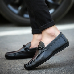 Gentleman Casual Loafers Breathable Driving Moccasins Slip on Men Loafers Walking Shoes black 39