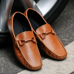 Gentleman Casual Loafers Breathable Driving Moccasins Slip on Men Loafers Walking Shoes yellow 41