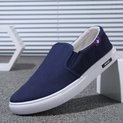 2018 New Casual Men Shoes Moccasin Shoes Slip on Designer Male Flats Canvas Shoes blue 42