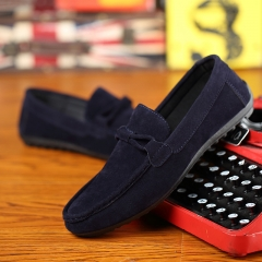 Fashion Men's Moccasins Breathable Shoes Casual Shoes Loafers and Slip-Ons navy blue 40