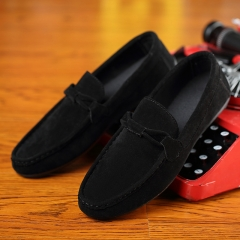 Fashion Men's Moccasins Breathable Shoes Casual Shoes Loafers and Slip-Ons black 40