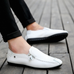 Driving Loafers Shoes Men's Causal Flat Sneaker Shoes white 40