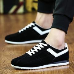 Men Sneakers Running Shoes Outdoor Sports Flat Run Walking Jogging Trendy black 39