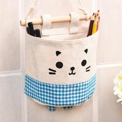 Behind the door storage bag hanging bag wall hanging hanging wall storage bag blue