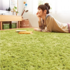 Bedroom warm Plush floor carpet, plush carpet, imitation fur carpet, living room mat. Green tea green 40*120cm
