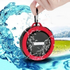 Outdoor Portable Bluetooth Speaker Rugged Waterproof Speakers Wireless Mini Sound Box red 5 W 87mm*45mm*95mm