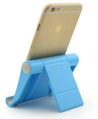 Universal Desk Phone Holder Stand Folding Mobile Phone Holder For iPhone Samsung Smart Phone Stand blue normal