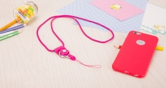 Mobile Phone Straps Rope  Neck Strap Phone Decoration red normal