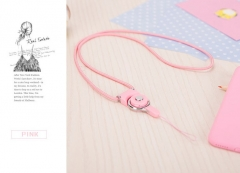 Mobile Phone Straps Rope  Neck Strap Phone Decoration pink normal