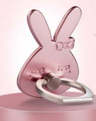 Metal ring bracket drill cell phone button rabbit finger ring pink rabbit