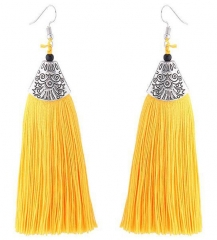 2018 Tassel Earrings metal Fish mouth Danging Earrings For Wedding Long Hanging fringe Earrings yellow length 10.5
