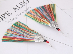2018 Tassel Earrings metal Fish mouth Danging Earrings For Wedding Long Hanging fringe Earrings color length 10.5