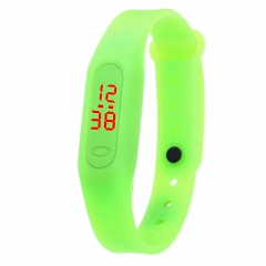 Bracelet Mini fashion casual personality student children's multicolored Bracelet electronic watch green 3cm**5cm
