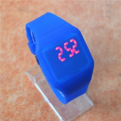 Factory watches wholesale hot touchscreen watch jelly ultra-thin LED Watch yellow 3cm**5cm