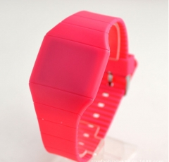 Factory watches wholesale hot touchscreen watch jelly ultra-thin LED Watch red 3cm**5cm