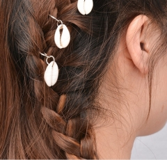 Small braid hair ornaments of European and American personality hairpins silver shell