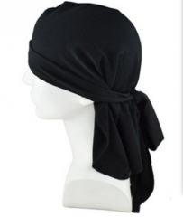 Official street dance headscarf with a long tail cap black normal