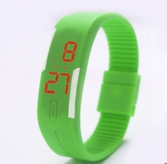 fashion LED lovers sporty watch green normal