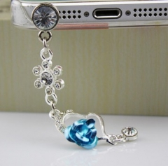 Water drill, cat eye stone, diamond pendant, cell phone dust plug blue enchantress normal