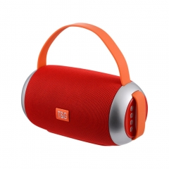 wireless bluetooth portable speaker with lanyard double speaker outdoor waterproof music subwoofer red 185mm*79mm*79mm
