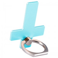 Cross180 Degree Finger Ring Mobile Phone Grip Stand Watch TV Film Phone Stand Holder For smartphones green normal