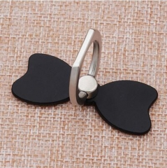 Universal cute mobile phone holder Stand Ring Ring Pretty BowKnot Girls Smartphone Tablet Support black normal