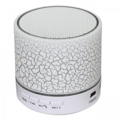 Gift led Mini Wireless Portable Bluetooth Speaker TF USB Music Sound Box Loudspeakers For with Mic white 5 w 60mm*60mm*60mm Cylinder