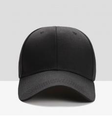 Men's, pure color baseball caps black adjustable