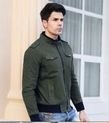Men's jacket, new men's casual large code Air Force pilot jacket, military flight suit. green xl