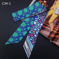 Printed scarves, handbags, handbags, handles, ribbons, fashion ornaments, scarves and ribbons. c34-1