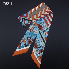 2018 new geometric stripe printing, scarves, hair belts, women's bags decoration c62-1