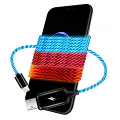 Streamer data line charging line magic fantasy colorful IPHONE Android tracking line A generation of IPHONE blue 1M