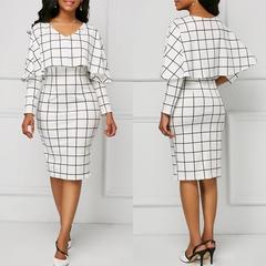 Sexy round collar, edge, lattice, dress. s picture color