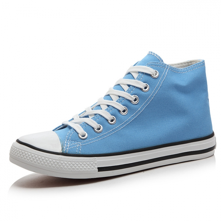 5104e7ef74 Classic high Top Canvas Sneakers Sport Leisure shoesTrainer Men Women Unisex  light blue 39