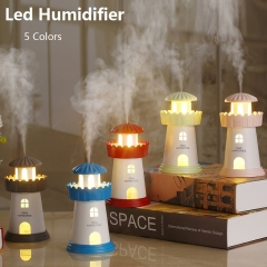 Lighthouse Led Humidifier Mist Maker USB Humidifiers Air Freshener Aroma Diffuser Lamp red 80*80*143mm