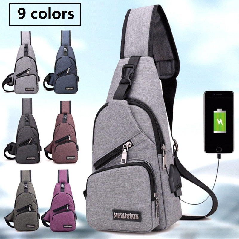 0c31b5e98402 Men s Shoulder Bags USB Charging Cross Body Bags Creative Anti Theft ...