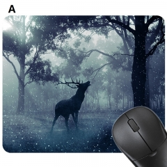Men's Computer Mouse Pad Mat Creative Digital Printing Rubber Soft Pad Anti-slip Gaming Mouse Pad a 24*20 cm